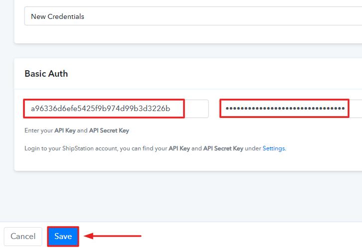 Paste the API Keys