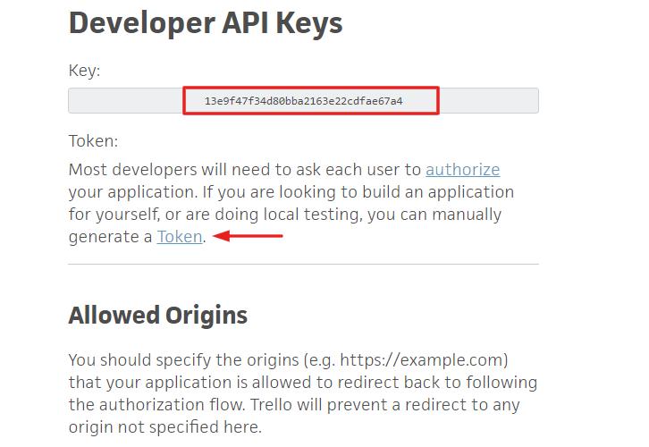 Copy the API Key to Create Trello Cards from new Google Tasks Tasks