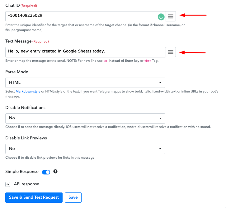 How to send Telegram Messages when a Google Sheets Row is Updated