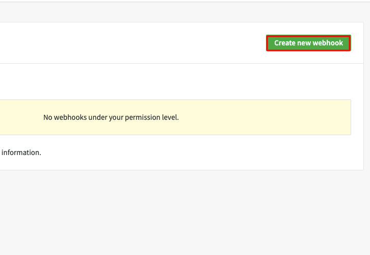 Click on Create New Webhook