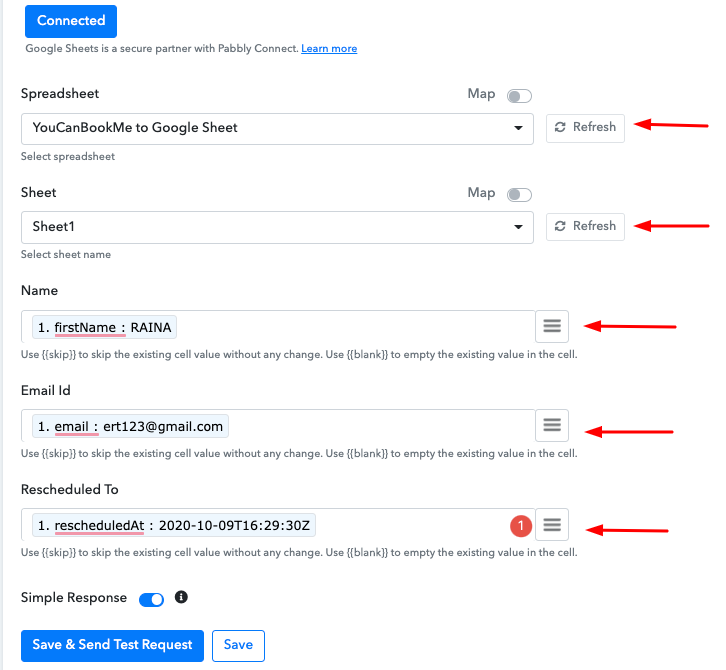How to Add YouCanBook.me Rescheduled Bookings to Google Sheets