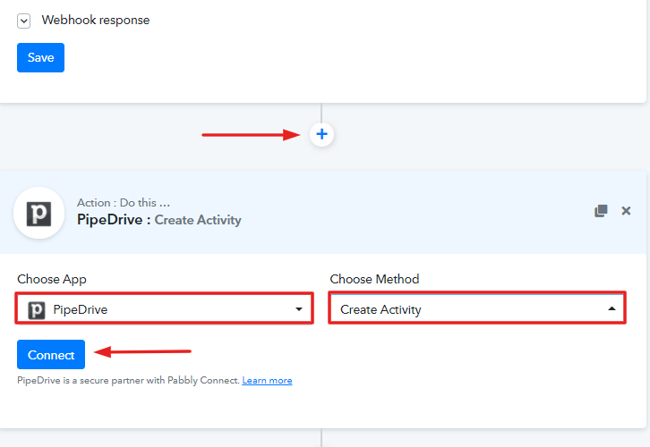 Select Application You Want to Integrate to Create Pipedrive Activity for New YouCanBook.me Bookings