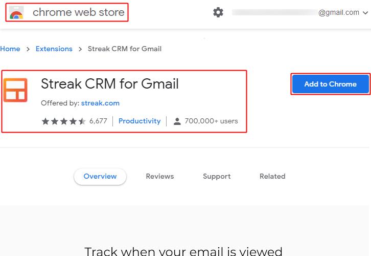 Add Streak Chrome Extension
