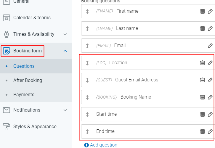 Additional Form Fields