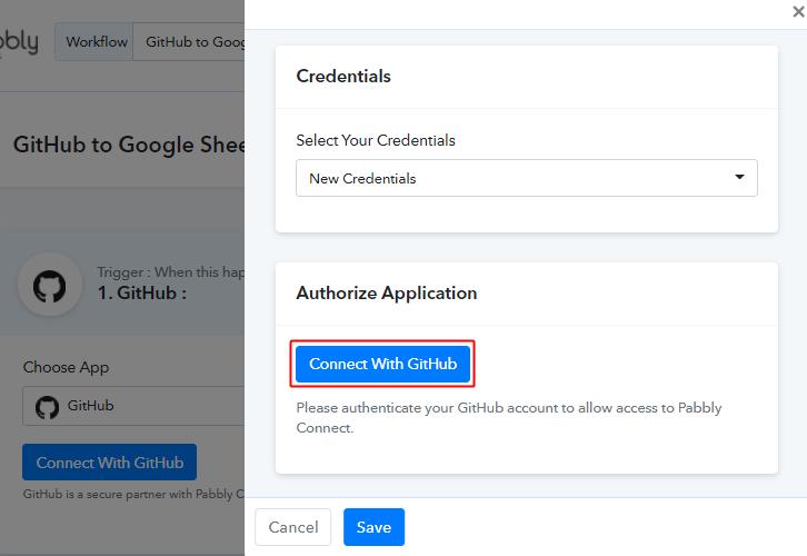 Authorize GitHub Account