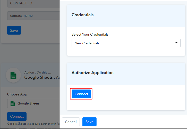 Authorize google sheets