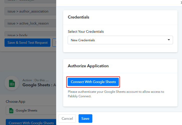 Authorize Google Sheets