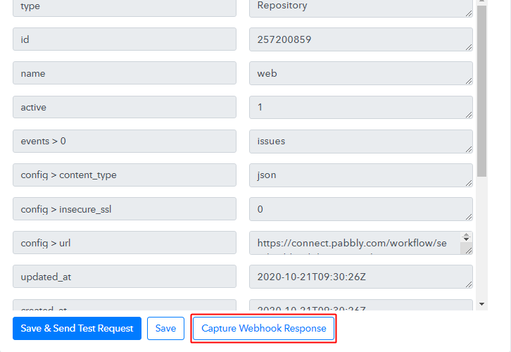 Capture Webhook Response