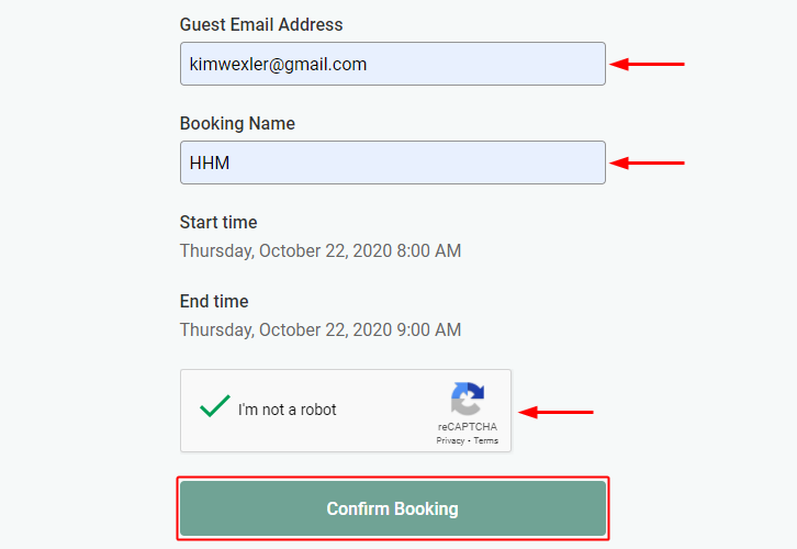 Confirm Booking