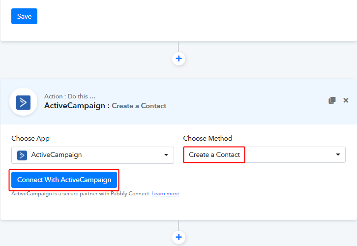 Connect with ACtiveCampaign