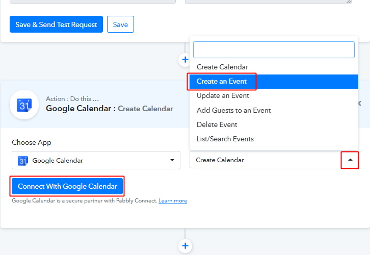 Connect with Google Calendar