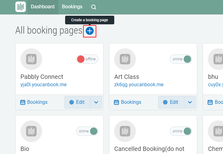 Create a Booking Page