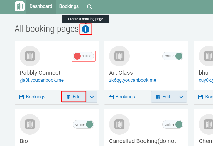 Create Booking Page
