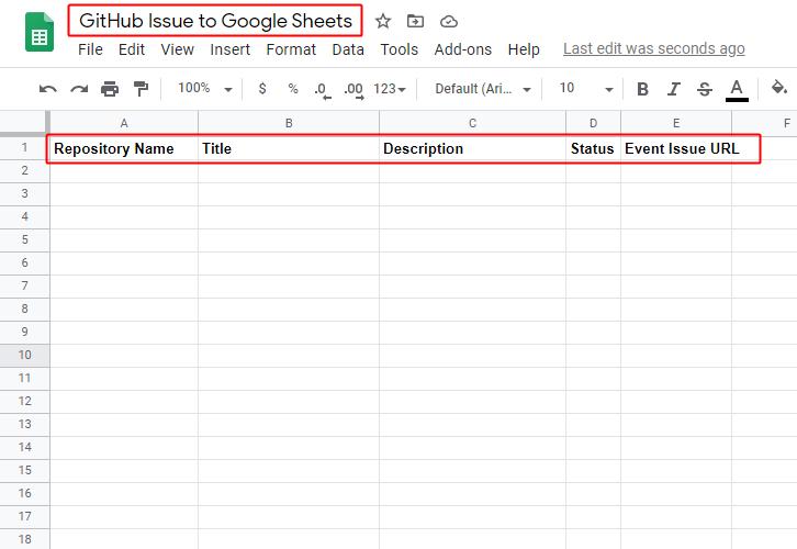 Create Google Sheet