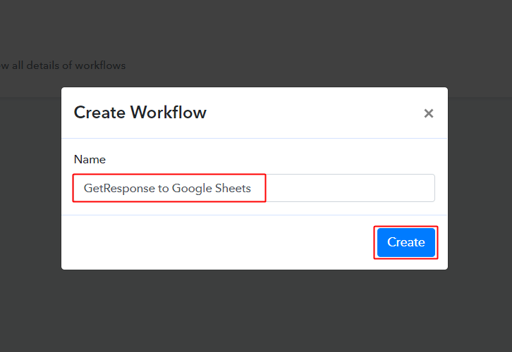 GetResponse to Google Sheets Workflow