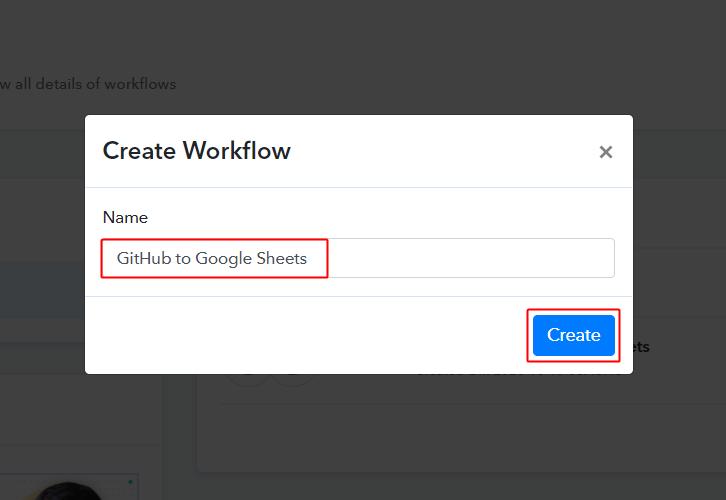 GitHub to Google Sheets