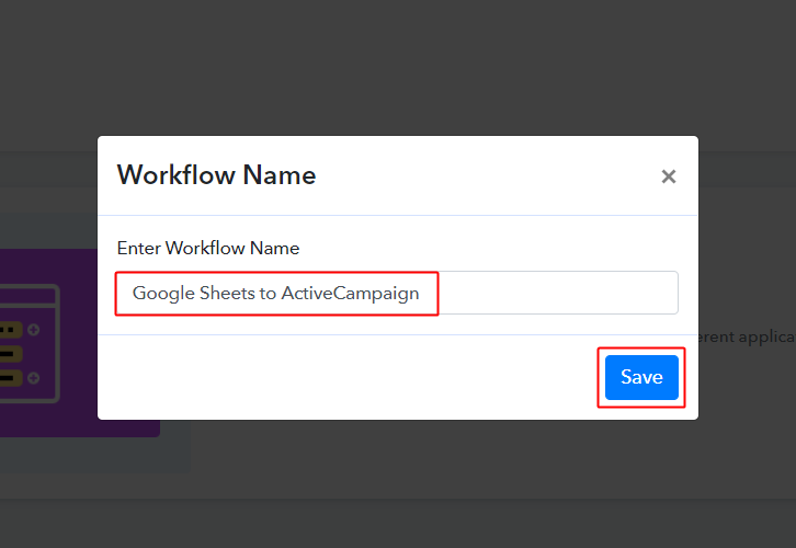 Google Sheets to ActiveCampaign Workflow