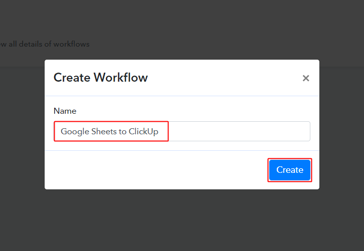 Google Sheets to ClickUp Workflow