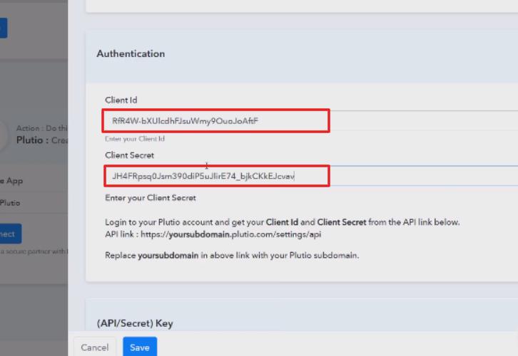 Paste the Client ID & Client Secret