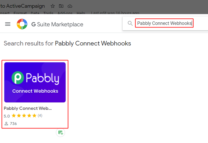 Search Pabbly Connect Webhook Addon
