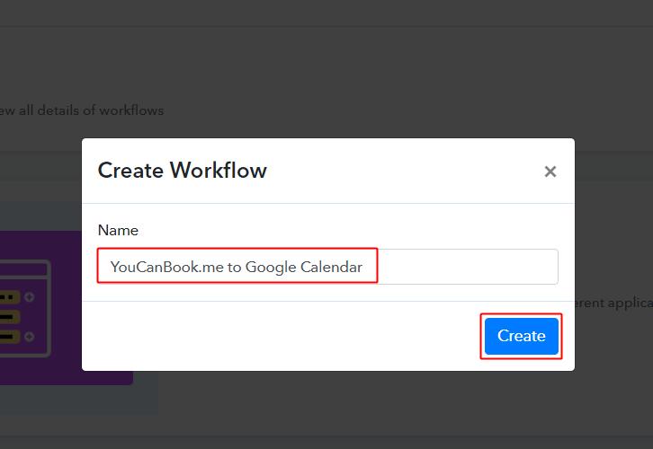 YouCanBook.me to Google Calendar Workflow