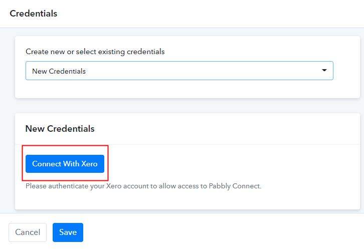 Authorize Xero Account