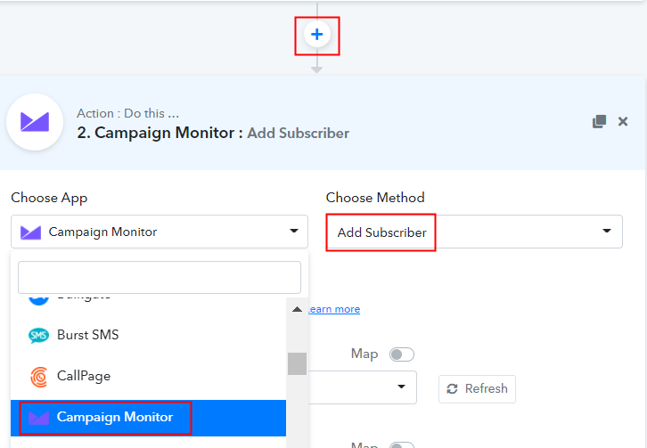 Select Campaign Monitor
