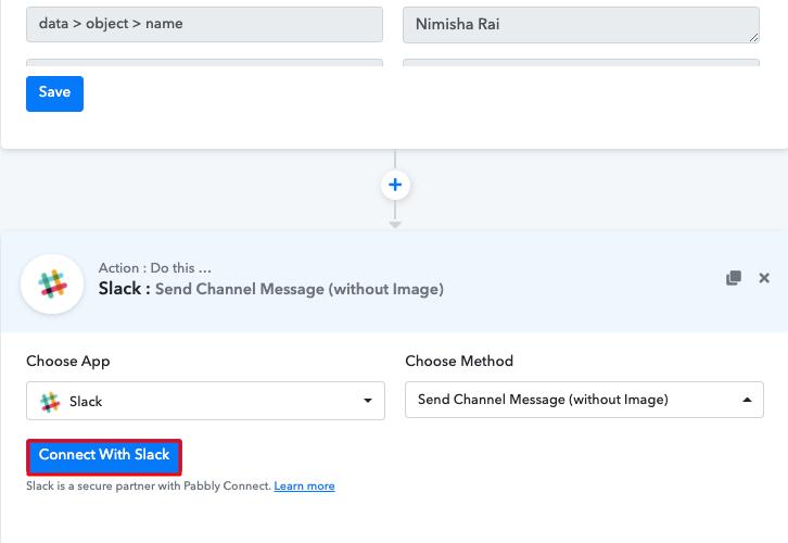 Click Connect Slack