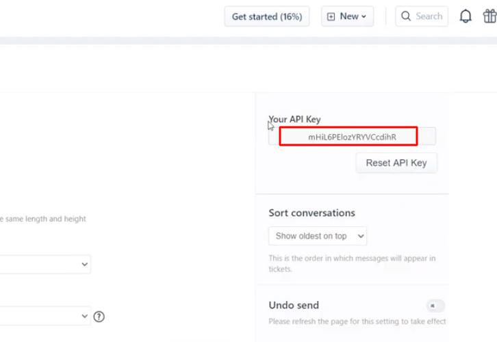 Copy the API Key