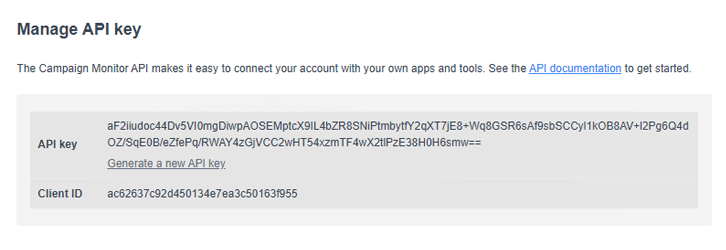 Copy the API Keys