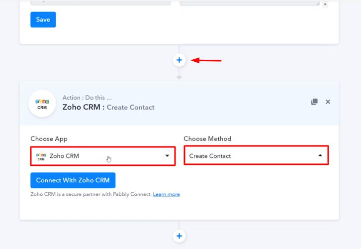 Select Zoho CRM