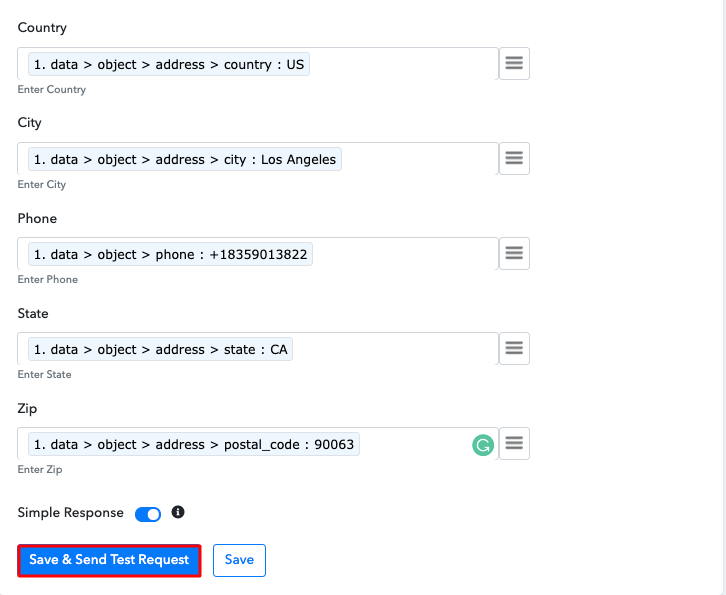 Send Test Request Add Stripe Customers to a Group of MailerLite Subscribers
