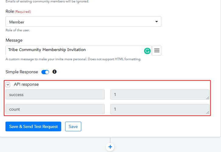 Action API Response