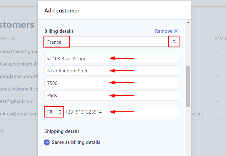 Add Billing Details for Stripe to Gist