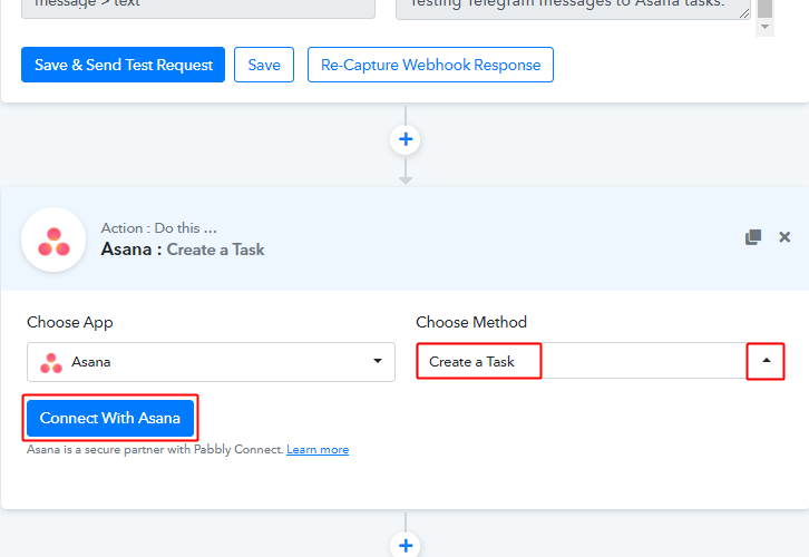 Connect with Asana