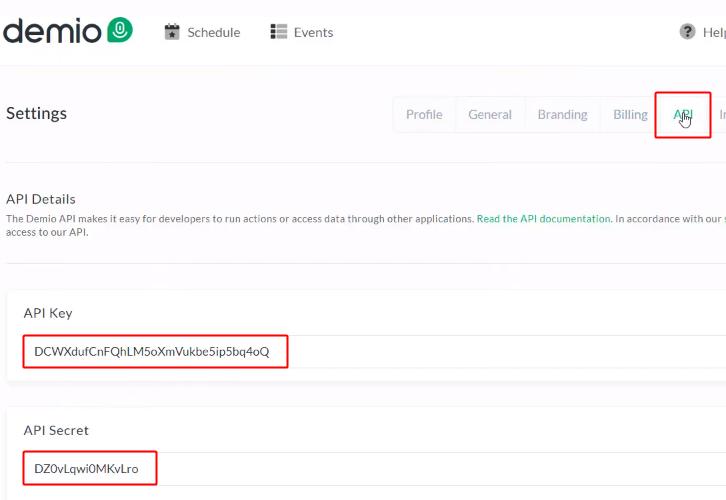 Copy API Key & Secret