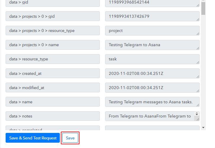 Save Action API Response