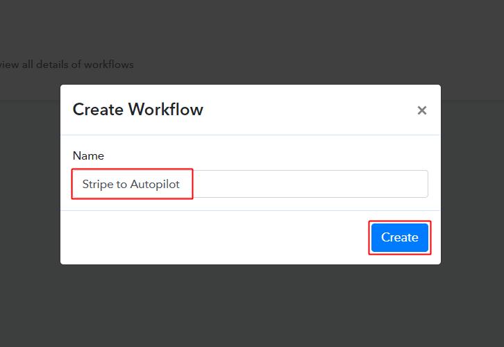 Stripe to Autopilot Workflow