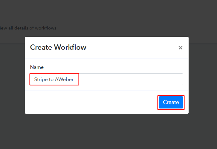 Stripe to AWeber Workflow
