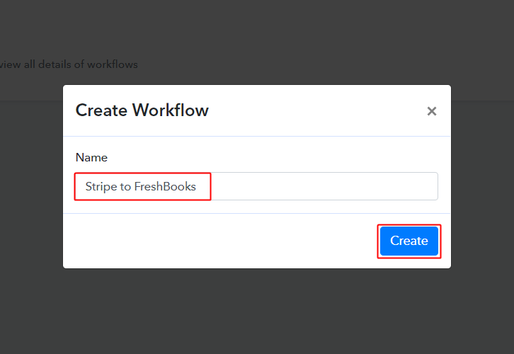 Stripe to FreshBooks Workflow