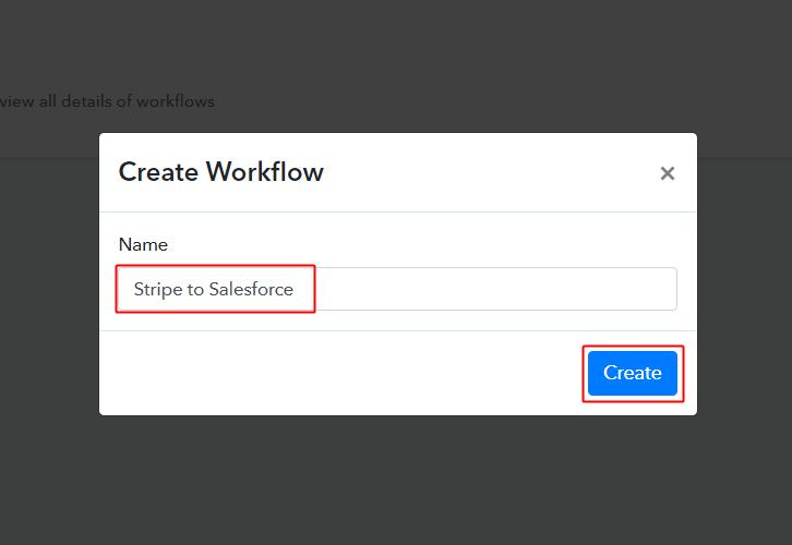 Stripe to Salesforce Workflow