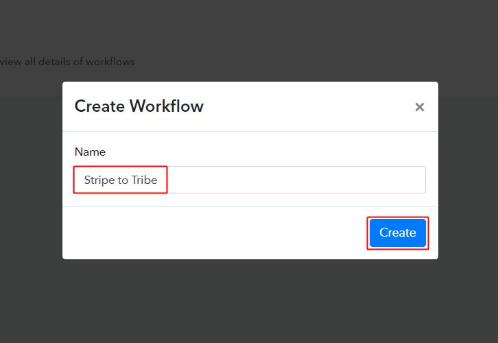 Stripe to Tribe Workflow