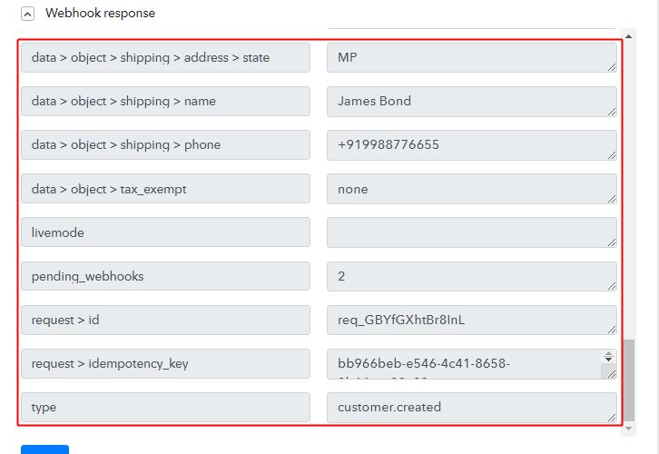Trigger API Response