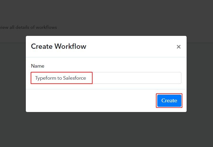 Typeform to Salesforce Workflow