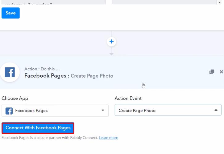 Click Connect Facebook