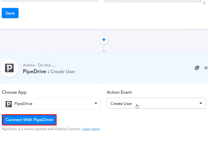 Click Connect PipeDrive