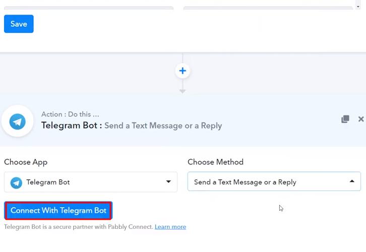 Click Connect Telegram