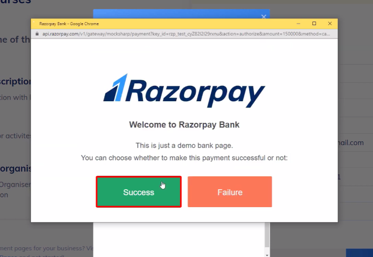 Click Success Razorpay