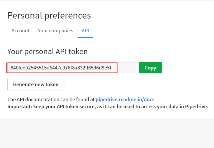 Copy API PipeDrive