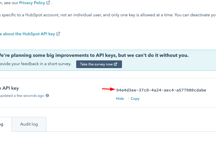 Copy-the-API-Key-for-Hubspot